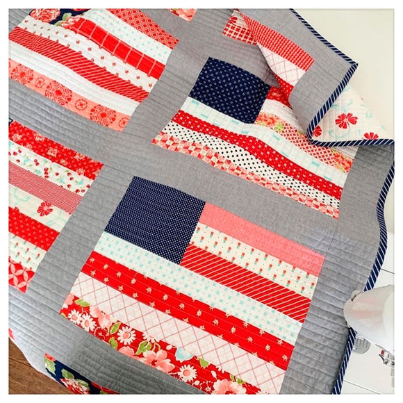 Stars and Stripes Quilt Kit - Scrappy