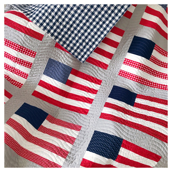 Stars and Stripes Quilt Kit - Basics