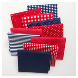 Red White and Blue Basics Fat Quarter Bundle