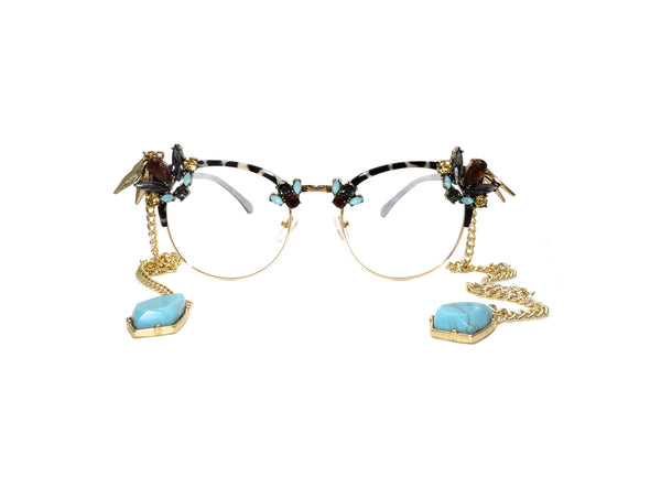 Opal Fantasy Custom Prescription Glasses - A Rock on a Lens