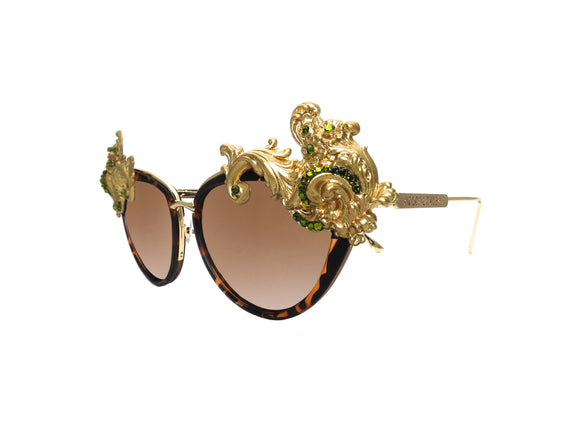 ALLAMANDA Embellished Sunglasses - A Rock on a Lens