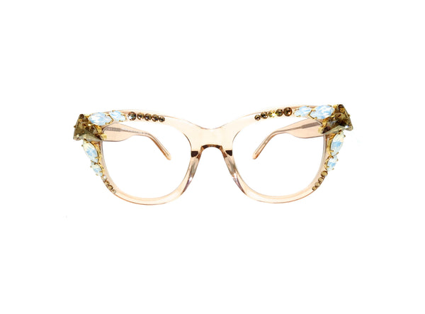 Swarovski Custom Prescription Glasses - A Rock on a Lens