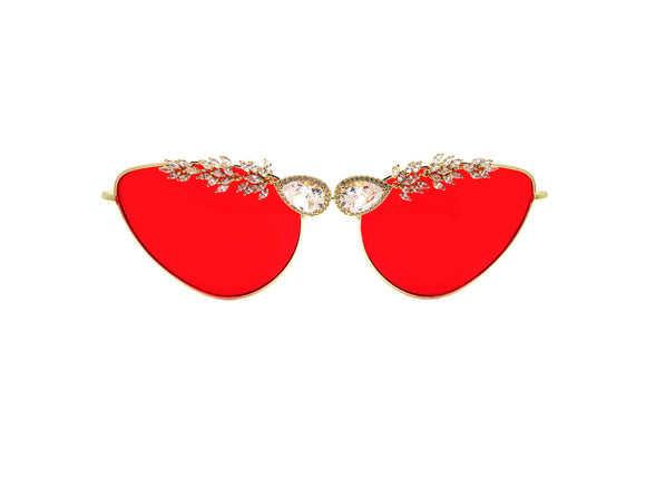 FIRE BIRD Embellished Sunglasses - A Rock on a Lens