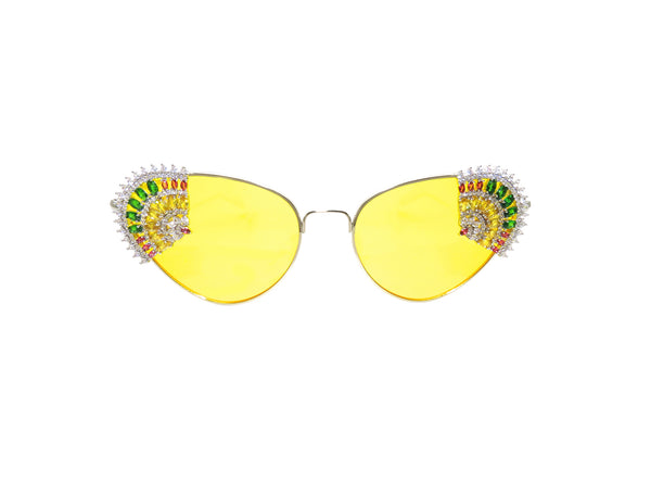 THE FLAMENCO Embellished Sunglasses - A Rock on a Lens