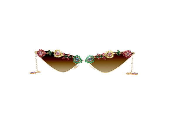 LISA Embellished Sunglasses - A Rock on a Lens