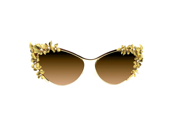 NONGKE - Gold Embellished Sunglasses - A Rock on a Lens