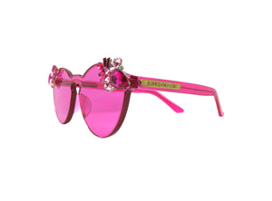 PUNCH - Pink Embellished Sunglasses - A Rock on a Lens