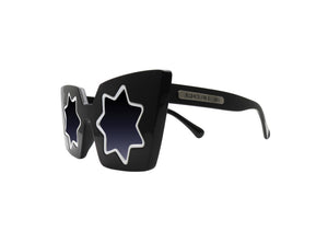 Square sunglasses with star shaped lenses from Melbourne, Australia