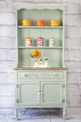 pettit welsh dresser painted in Fusion Mineral Paint Inglenook by Caramel Treasures near Leeds West Yorkshire