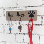 Dark grey His & Hers wall key holder - Caramel Treasures