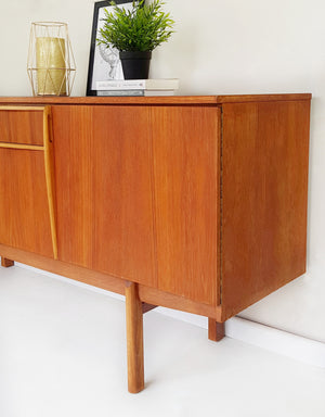 Vintage retro teak solid wood large sideboard - Caramel Treasures
