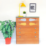 Mid Century Stag 1960's Teak Retro Chest of Drawers