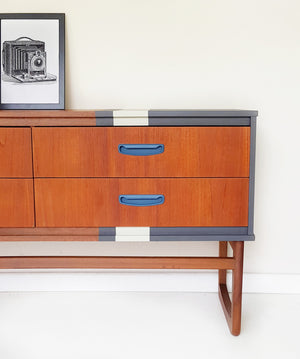 Retro teak sideboard with drawers - Caramel Treasures