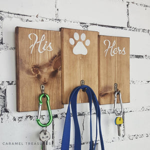 Hallway wall key and lead organiser - Caramel Treasures