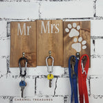 Mr and Mrs Rustic Wall Key holder - Caramel Treasures