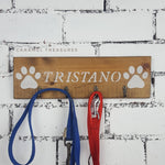 Personalised pets name sign with hooks - Caramel Treasures