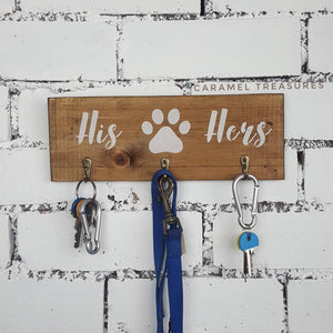 Couples Rustic Key and Lead Holder