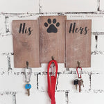 Scandinavian style wall key and lead holder - Caramel Treasures