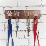 Rustic Mr Mrs key holder - Caramel Treasures