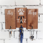 Personalised family name wall key and lead organiser - Caramel Treasures