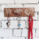 Mr and Mrs key holder for wall - Caramel Treasures