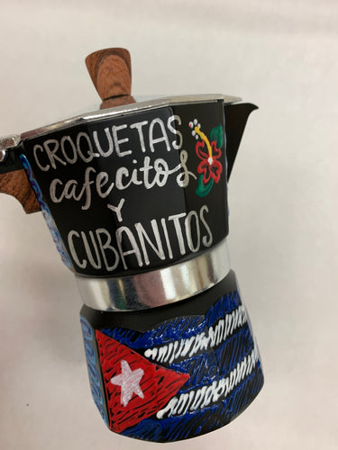 Hand Painted Cafetera - Small