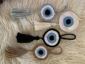 Crochet EVIL EYE Tassel
