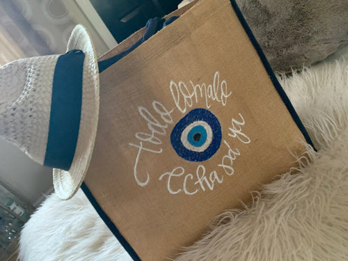Evil Eye Beach Tote