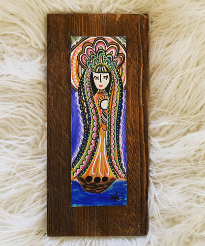 Virgencita on Canvas and Wood