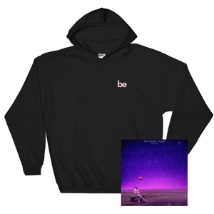 'be' Hoodie (Black) + Digital Album