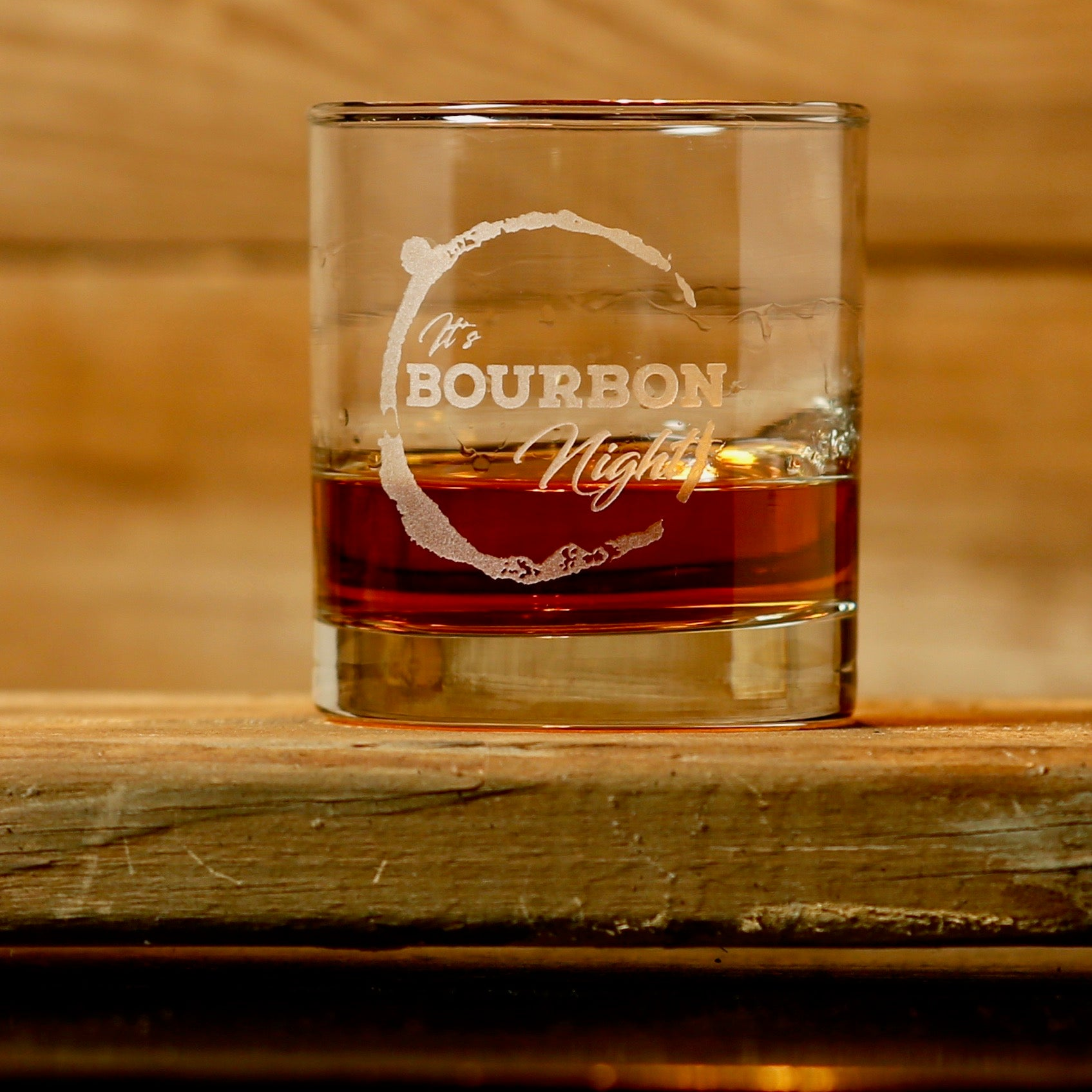 It's Bourbon Night Rocks Glasses - Set of 4