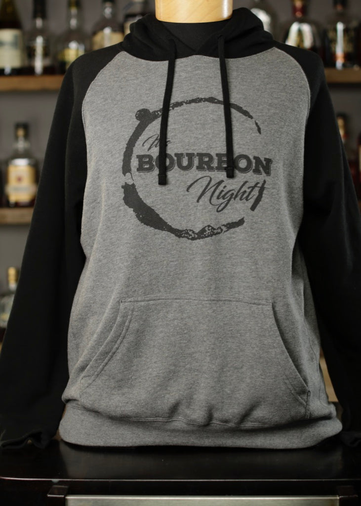 It's Bourbon Night Black & Gray Hoodie