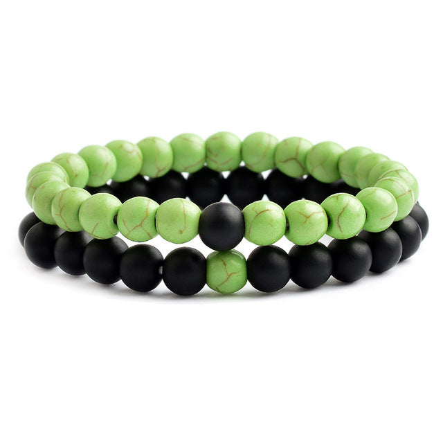 Relationship Goals Bracelet - Green and Black