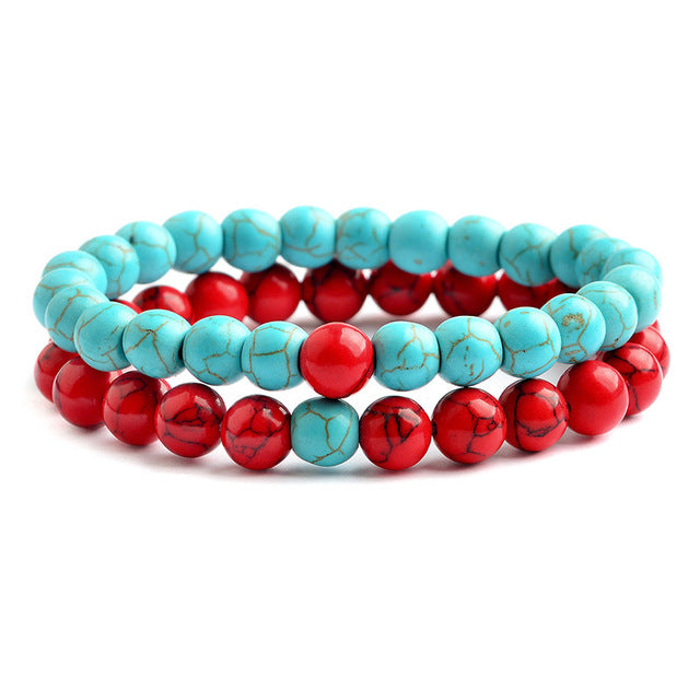 Relationship Goals Bracelets - Red and Teal
