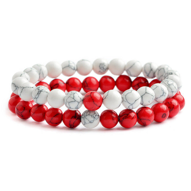 Relationship Goals Bracelet - Red and White