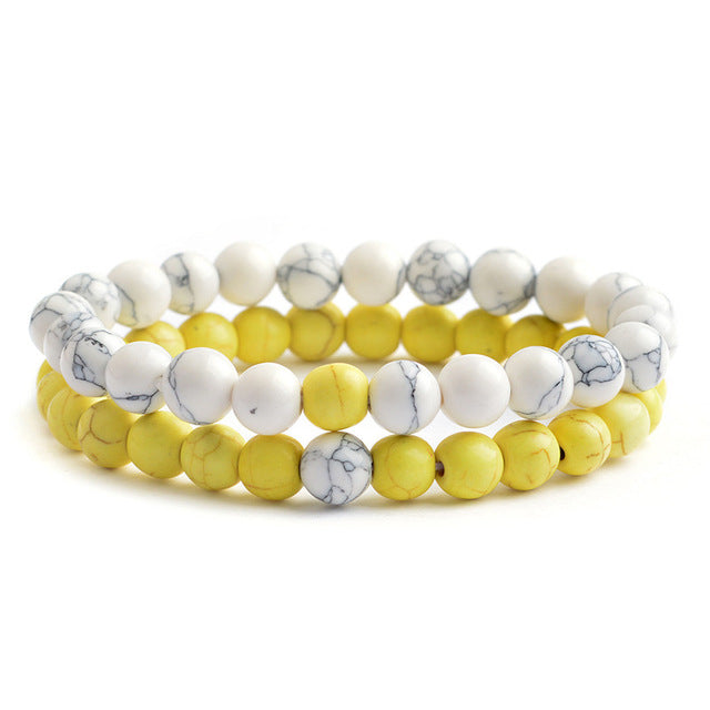 Relationship Goals Bracelet - Yellow and White