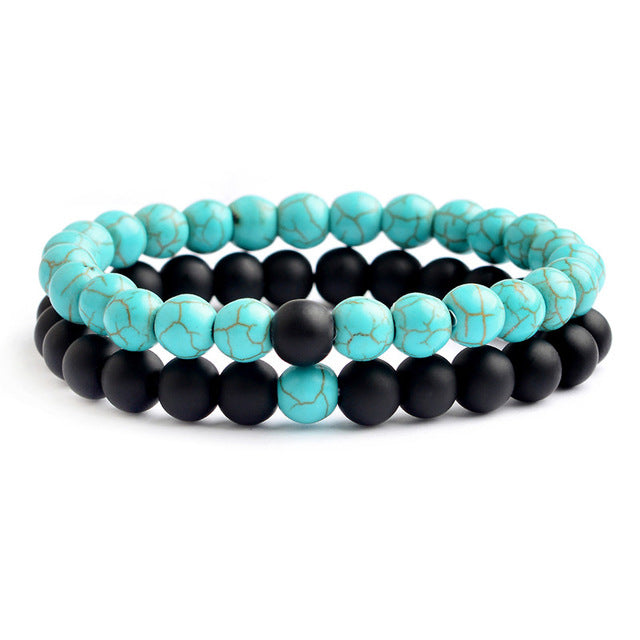 Relationship Goals Bracelet - Black and Teal