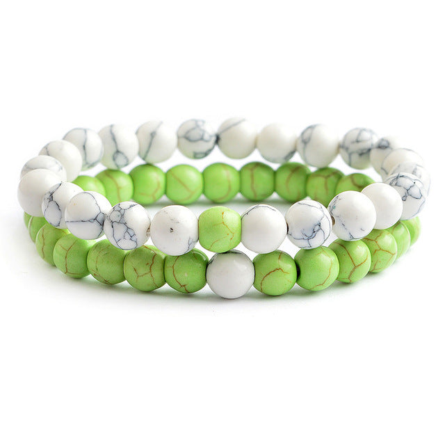 Relationship Goals Bracelet - Green and White