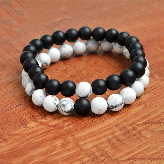 Relationship Goals Bracelet - Marble and Black