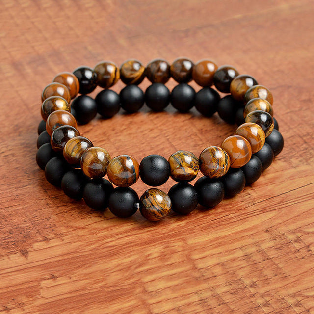 Relationship Goals Bracelet - Brown Marble and Black