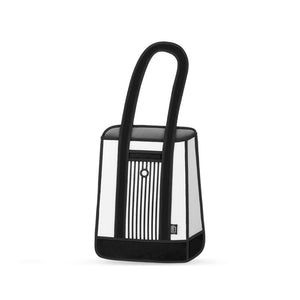 Stripe Black Tote- LAST PIECE