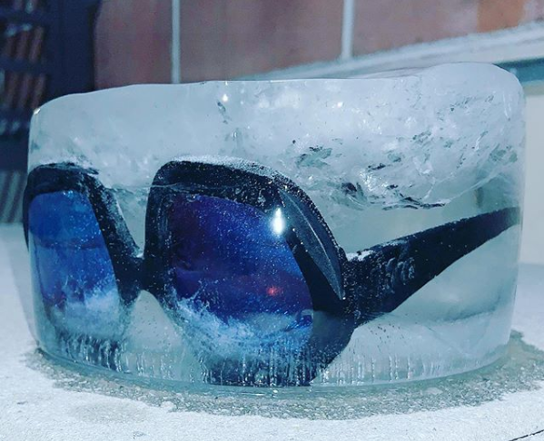Freezing Sunglasses in a Block of Ice?