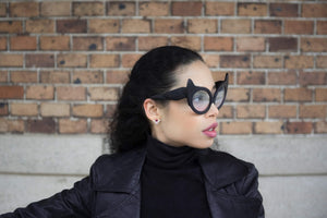 Cat eye, eyewear worn by Violaine Frederique of 90suitsparis
