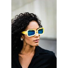 Load image into Gallery viewer, Yellow women's sunglasses