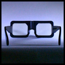 Load image into Gallery viewer, Big Visor Black men's Sunglasses shown in  Rear View Studio Picture by Nouvelle Chicane