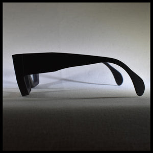 men's Black sunglass frame left side view