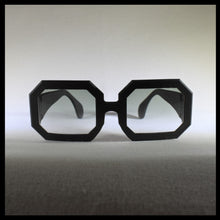 Load image into Gallery viewer, black rectangular sunglass frames, front view