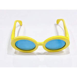 yellow retro sunglasses