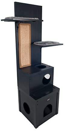 ecoFLEX Kitty Klimber - Cat Tree - Espresso - Mia's Pet Supply