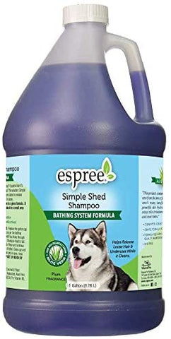 Espree Simple Shed Shampoo, Bathing System, 1 Gallon